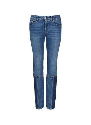 Main View - Click To Enlarge - Alexander McQueen - Patchwork jeans