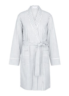 Araks'Kari' gingham check organic cotton robe