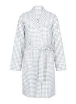 'Kari' gingham check organic cotton robe