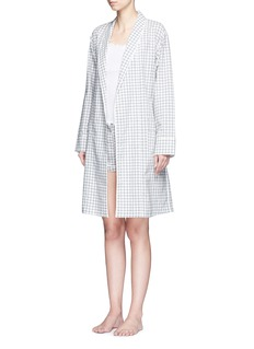 Araks 'Kari' gingham check organic cotton robe