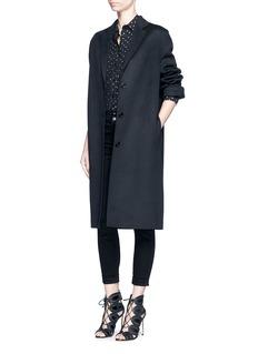 J Brand'Anja' luxe sateen cuffed skinny pants