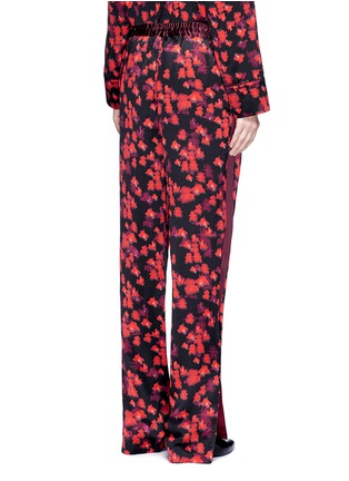 Back View - Click To Enlarge - Givenchy - Floral print silk satin pyjama pants