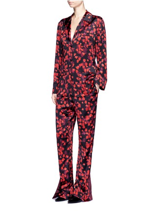 Figure View - Click To Enlarge - Givenchy - Floral print silk satin pyjama pants