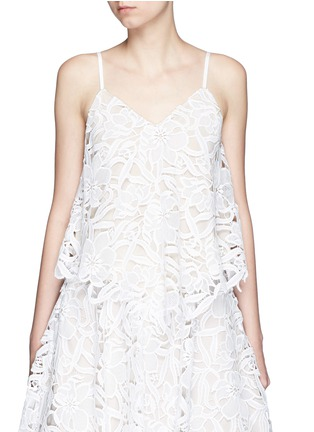 Main View - Click To Enlarge - alice + olivia - 'Emmeline' floral lace tank top