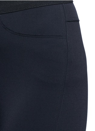 Detail View - Click To Enlarge - J Brand - 'Quin' ribbon waist cropped scuba leggings
