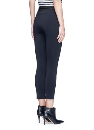 Back View - Click To Enlarge - J Brand - 'Quin' ribbon waist cropped scuba leggings