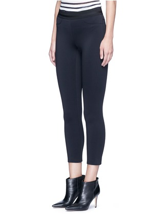 Front View - Click To Enlarge - J Brand - 'Quin' ribbon waist cropped scuba leggings