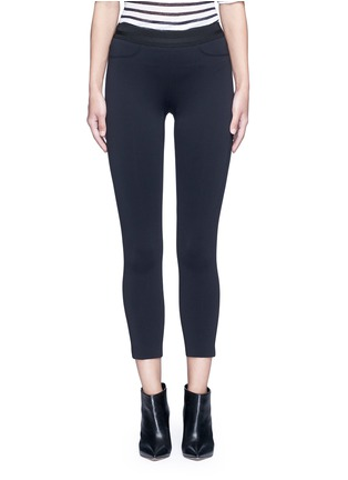 Main View - Click To Enlarge - J Brand - 'Quin' ribbon waist cropped scuba leggings