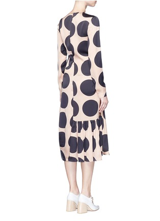 Back View - Click To Enlarge - Stella McCartney - Polka dot print pleated silk dress