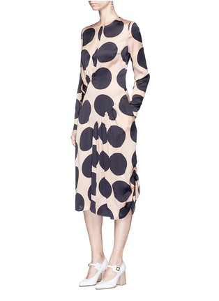 Figure View - Click To Enlarge - Stella McCartney - Polka dot print pleated silk dress