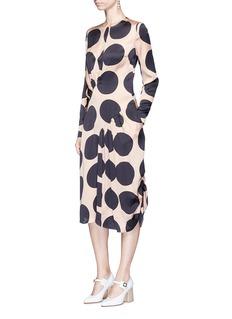 Stella McCartneyPolka dot print pleated silk dress