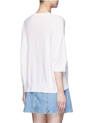 Back View - Click To Enlarge - Vince - Three-quarter sleeve cashmere sweater