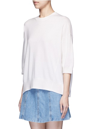 Front View - Click To Enlarge - Vince - Three-quarter sleeve cashmere sweater
