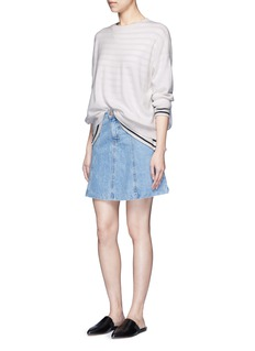 VinceThree-quarter sleeve cashmere sweater
