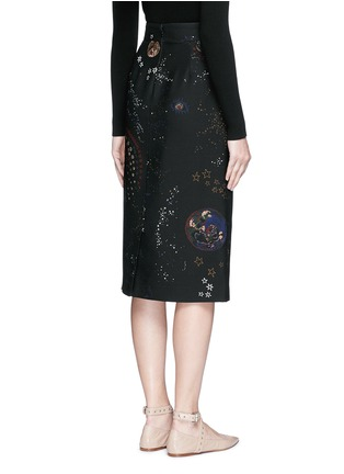 Back View - Click To Enlarge - Valentino - Cosmos print Crepe Couture skirt