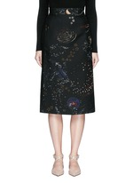 Cosmos print Crepe Couture skirt