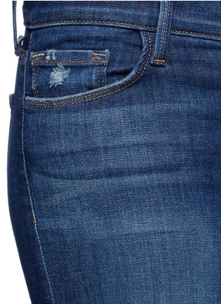Detail View - Click To Enlarge - J Brand - 'Cropped Skinny' distressed jeans
