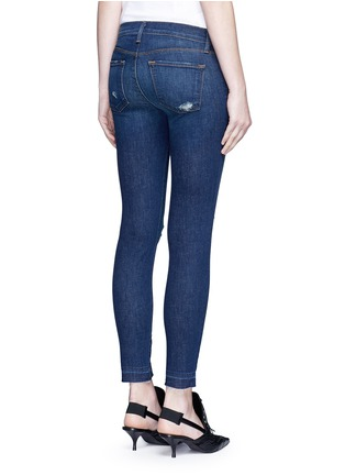 Back View - Click To Enlarge - J Brand - 'Cropped Skinny' distressed jeans