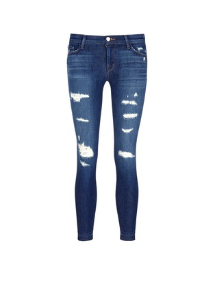 Main View - Click To Enlarge - J Brand - 'Cropped Skinny' distressed jeans