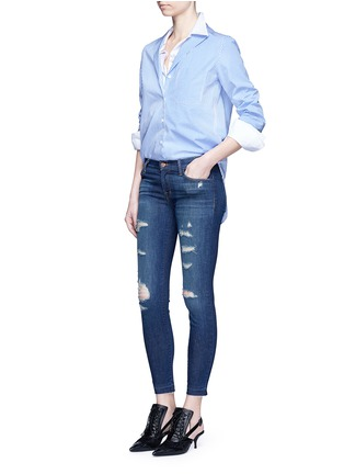 Figure View - Click To Enlarge - J Brand - 'Cropped Skinny' distressed jeans
