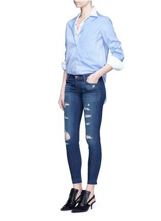 J Brand-'Cropped Skinny' distressed jeans
