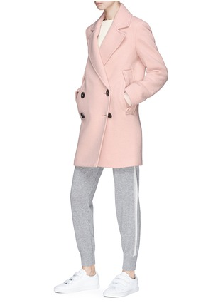 Figure View - Click To Enlarge - Theory - Double-breasted virgin wool melton coat