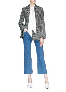 Theory Sash scarf silk crepe sleeveless blouse