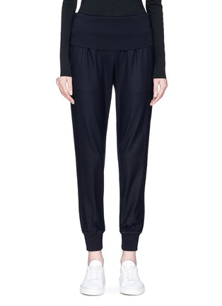 Main View - Click To Enlarge - Theory - Wide waist panel virgin wool blend sweatpants