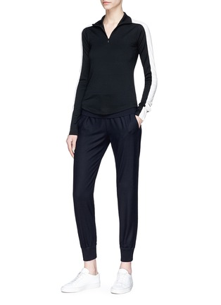 Figure View - Click To Enlarge - Theory - Wide waist panel virgin wool blend sweatpants
