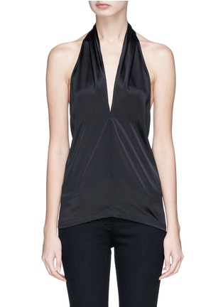 Main View - Click To Enlarge - Theory - Halterneck silk satin top