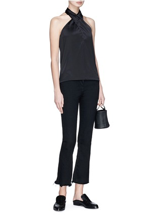 Figure View - Click To Enlarge - Theory - Halterneck silk satin top