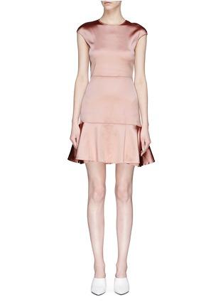 Main View - Click To Enlarge - Theory - Satin peplum mini dress