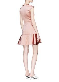 Theory Satin peplum mini dress
