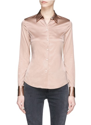 Main View - Click To Enlarge - Theory - 'Perfect fitted' silk satin shirt