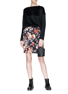 Theory Floral print pencil skirt
