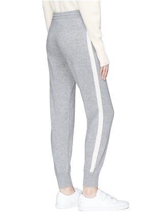 Back View - Click To Enlarge - Theory - Stripe outseam cashmere pants