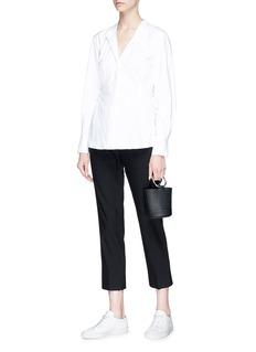 Theory Lace-up side cotton poplin shirt