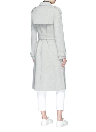 Back View - Click To Enlarge - Theory - Double-faced wool-cashmere melton trench coat