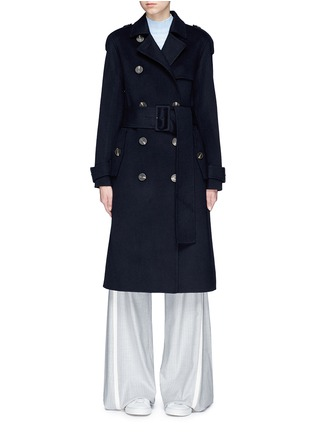 Main View - Click To Enlarge - Theory - Double-faced wool-cashmere melton trench coat