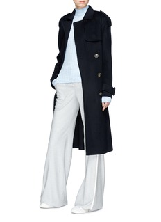 Theory Double-faced wool-cashmere melton trench coat