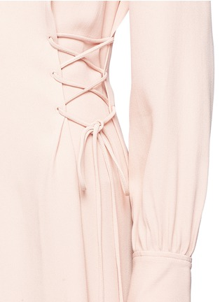 Detail View - Click To Enlarge - Theory - Lace-up waist crepe dress