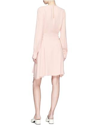 Figure View - Click To Enlarge - Theory - Lace-up waist crepe dress