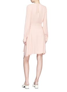 Theory Lace-up waist crepe dress
