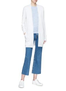 Theory Merino wool-cotton rib knit top