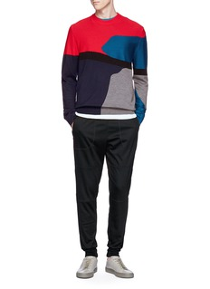 PS by Paul Smith Colourblock mixed knit sweater