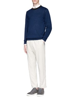 PS by Paul Smith Contrast collar Merino wool blend sweater