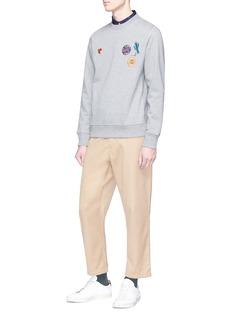 PS by Paul Smith Mixed appliqué sweatshirt