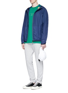 PS by Paul Smith Contrast placket ripstop zip hoodie