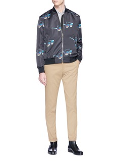 Paul Smith Sunglasses print satin bomber jacket