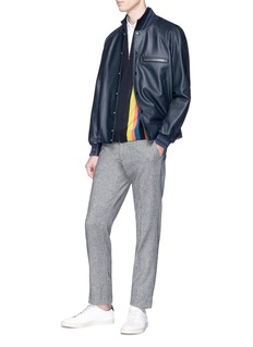 Paul Smith Lambskin leather bomber jacket